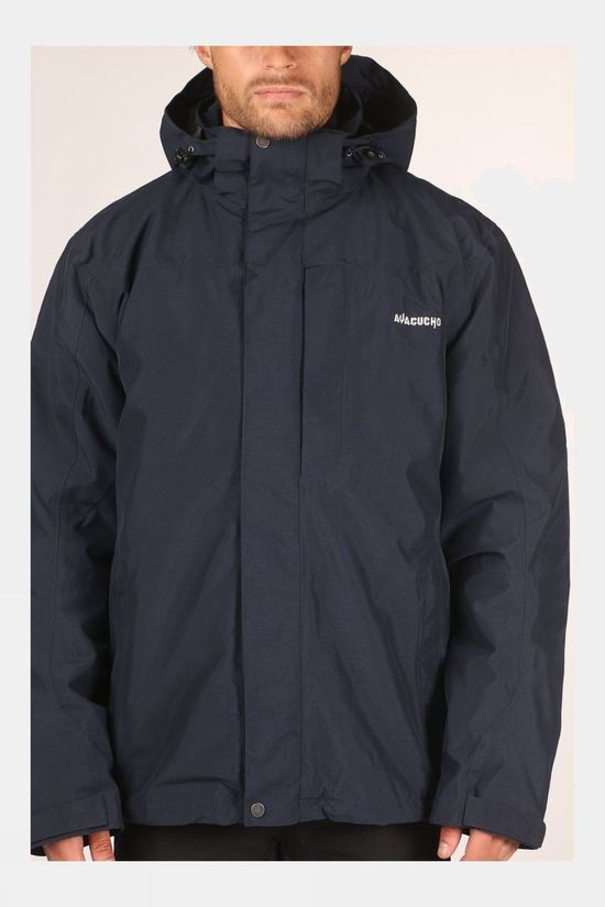 Ayacucho Mens Avignon 3-in-1 Jacket Dark Navy Melange