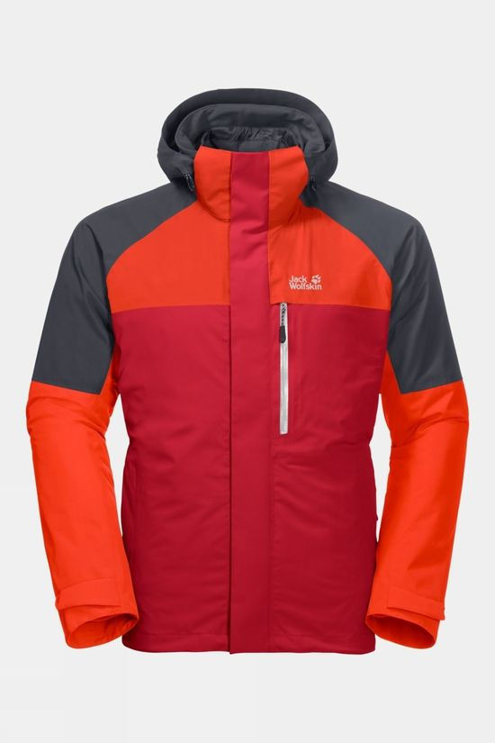 Jack Wolfskin Mens Steting Peak Jacket Red Lacquer