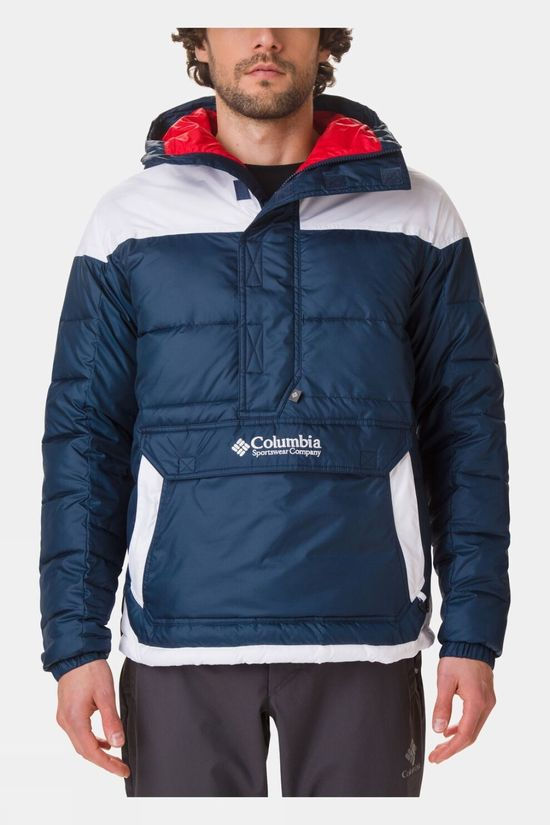 Columbia Mens Lodge Pullover Jacket Collegiate Navy
