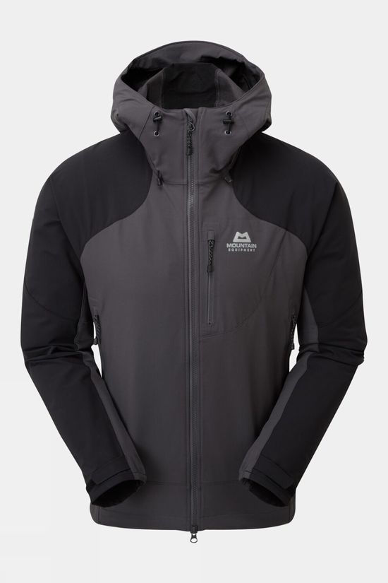 Mountain Equipment Mens Frontier Hooded Jacket Anvil Grey/Black