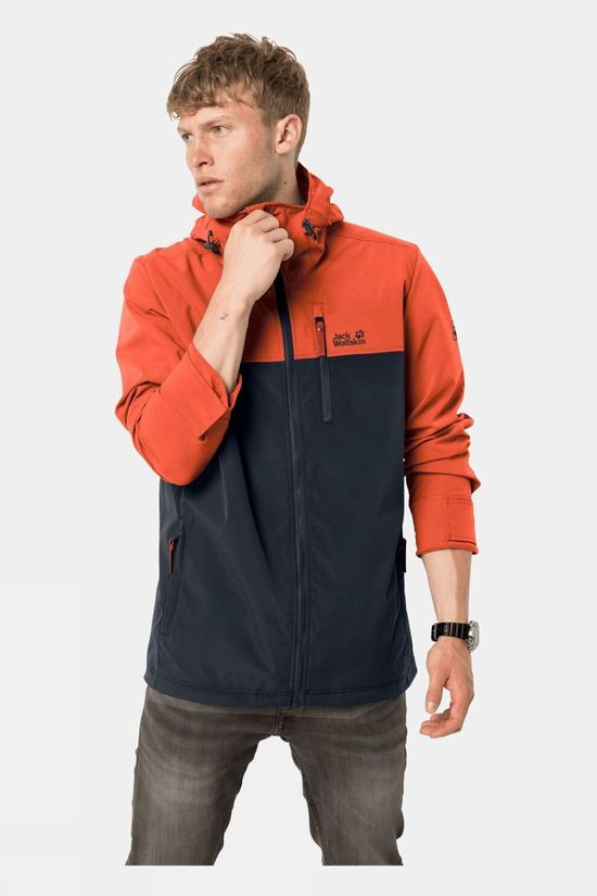 Jack Wolfskin Mens Desert Wind Jacket  Chilli