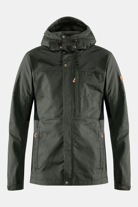Fjallraven Mens Kaipak Jacket  Dark Grey-Black