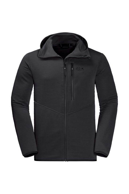 Jack Wolfskin Mens Modesto Hooded Jacket Black
