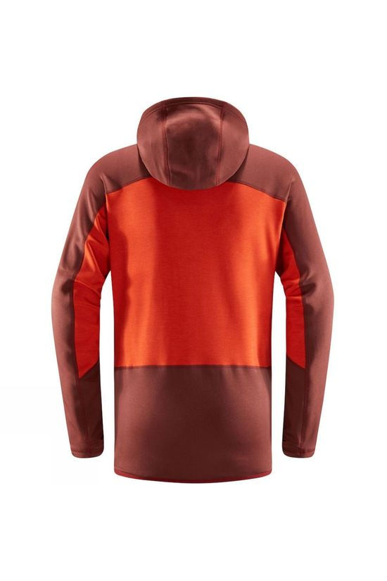 Haglofs Spire Mid Hooded Fleece Maroon red/habanero