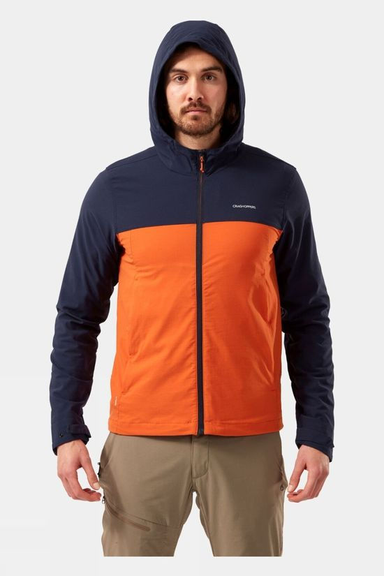 Craghoppers Mens NosiLife Vitor Jacket Blue Navy / Marmalade