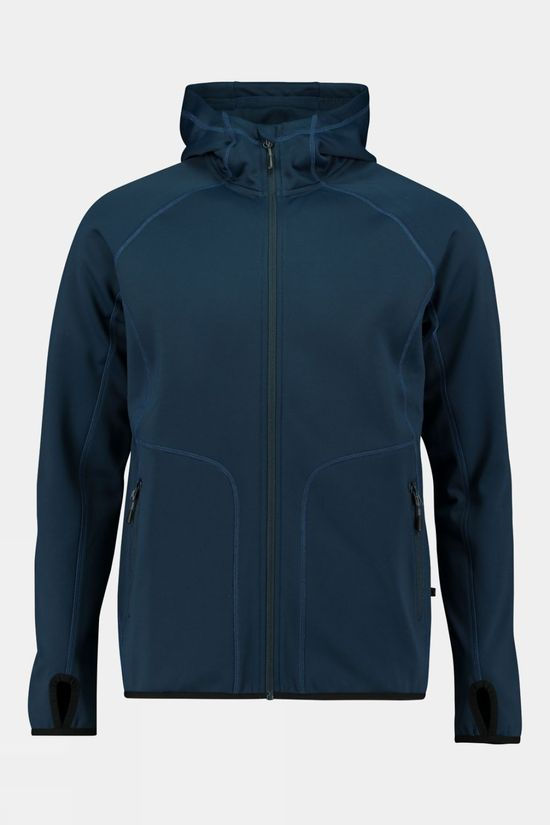 Our Planet Mens Cahar Powerstretch Hooded Top Dress Blues