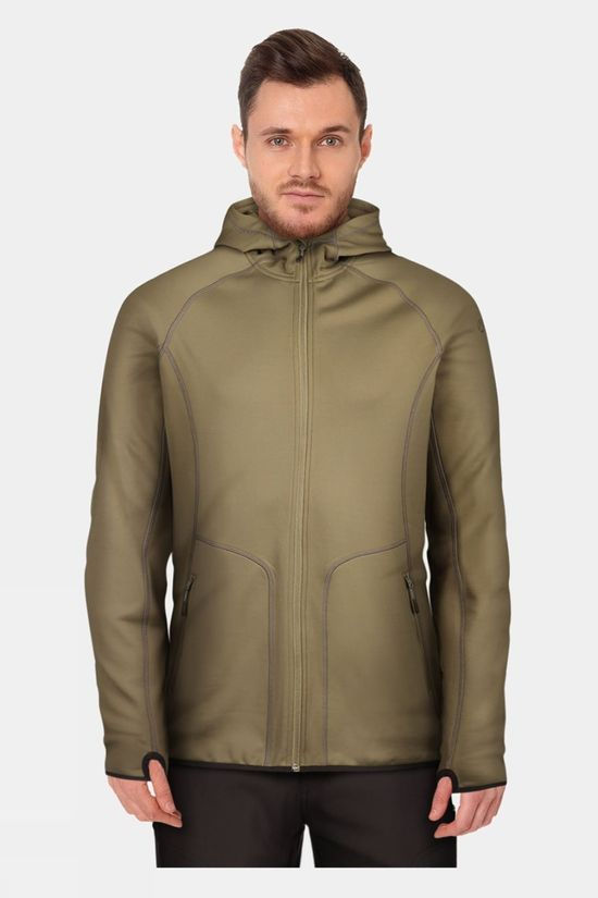 Our Planet Mens Cahar Powerstretch Hooded Top Olive Night
