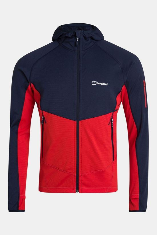 Berghaus Mens Pravitale MTN Light 2.0 Fleece Jacket Volcano/Dusk