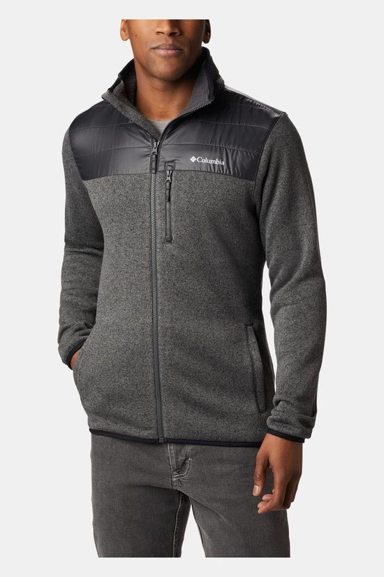 Columbia Mens Canyon Point Sweater Fleece Full Zip City Grey/ Shark
