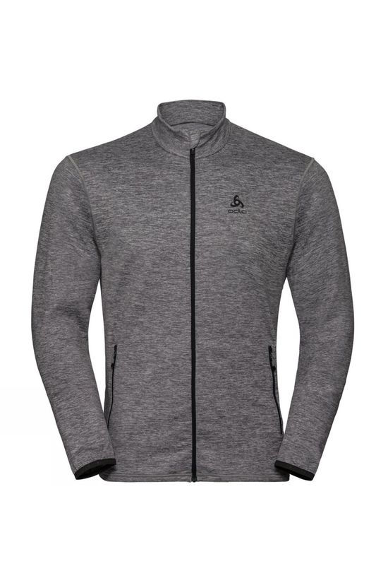 Odlo Mens Alagna Full Zip Midlayer Odlo Graphite Grey Melange