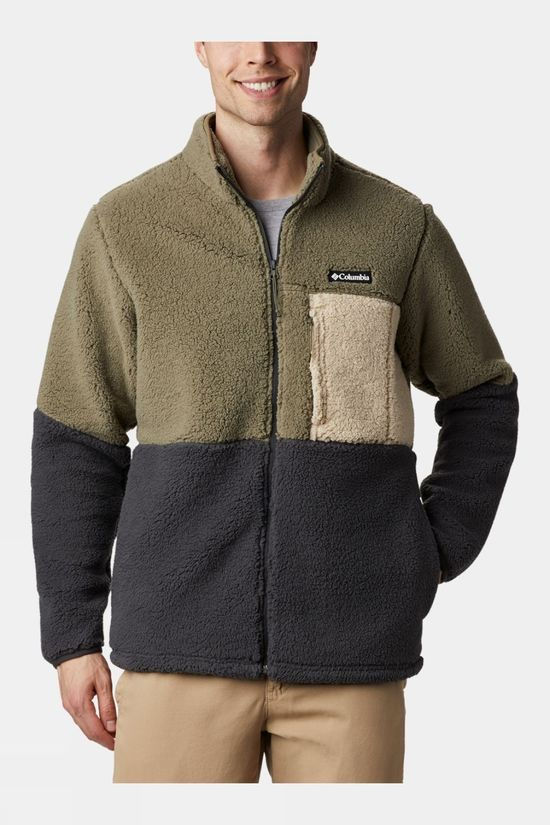 Columbia Mens Mountainside Heavyweight Fleece Stone Green/Shark/Ancient Fossil