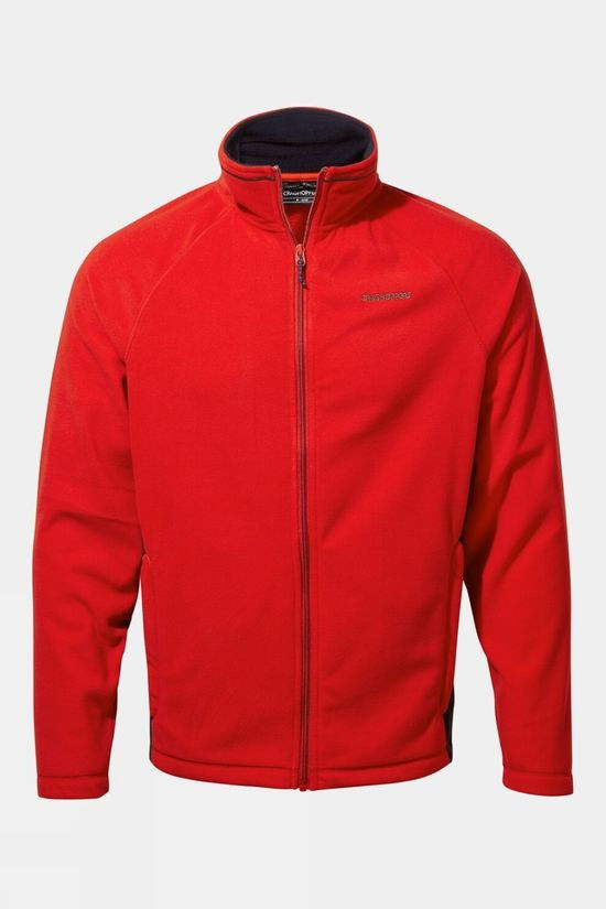 Craghoppers Mens Corey Fleece Jacket Sriracha / Dark Navy