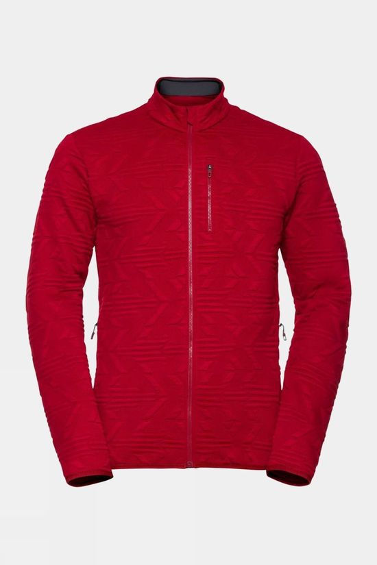 Odlo Mens Corviglia Kinship Midlayer Top Rio Red