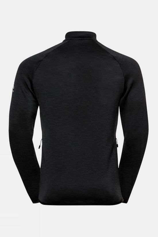 Odlo Mens Corviglia Kinship Em Midlayer Top Black