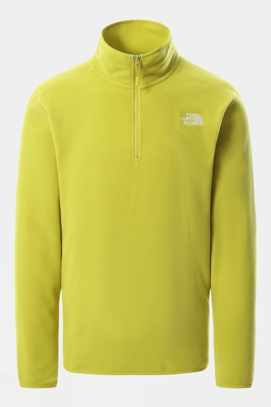 The North Face Mens 100 Glacier 1/4 Zip Fleece Citronelle Green