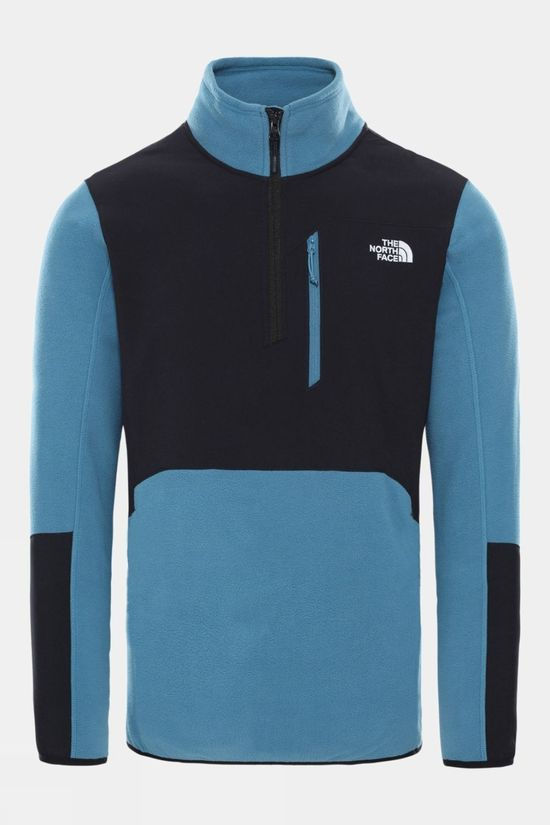 The North Face Mens Glacier Pro 1/4 Zip Fleece Mallard Blue/TNF Black