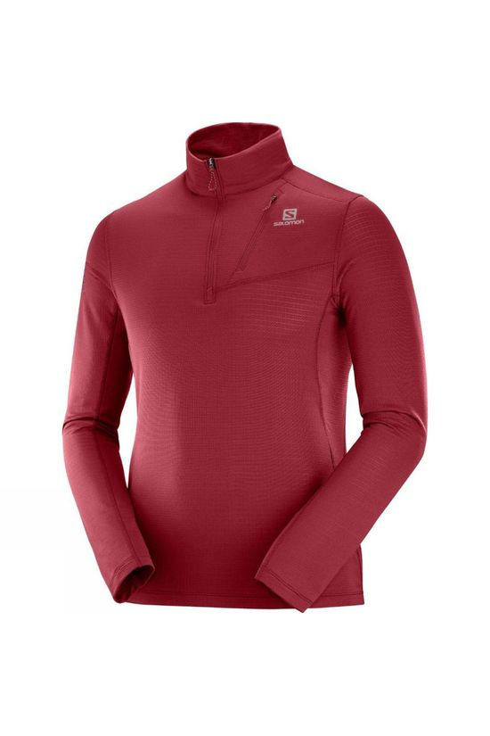 Salomon Grid HZ Mid Hoodie Biking Red