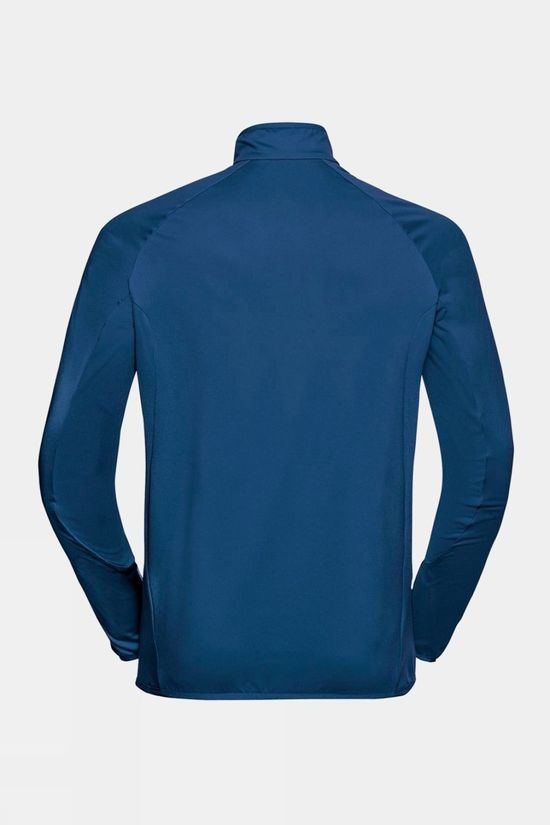 Odlo Mens Carve Light 1/2 Zip Midlayer Estate Blue