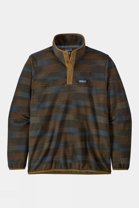Patagonia Mens Micro D Snap-T Pullover Native Seeds/Industrial Green