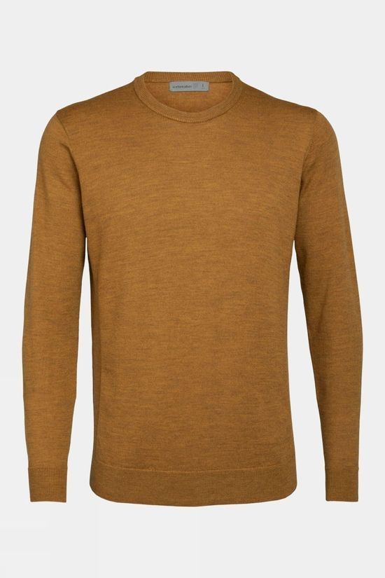 Icebreaker Mens Shearer Crewe Sweater Saffron Heather