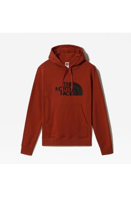 The North Face Mens Drew Peak Pullover Hoodie Brandy Brown/TNF Black
