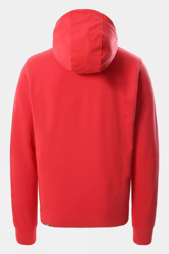 The North Face Mens Light Drew Peak Pullover Hoodie Rococco Red