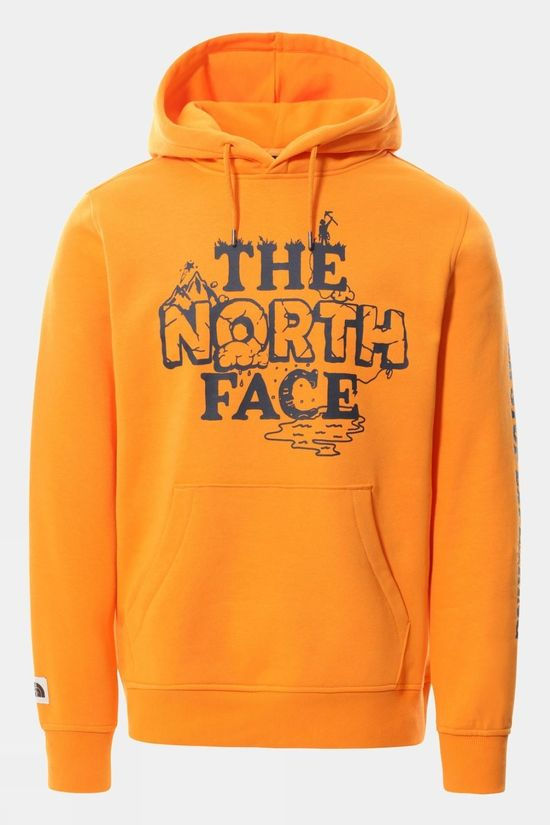 The North Face Mens Himalayan Bottle Source Hoodie Light Exuberance Orange