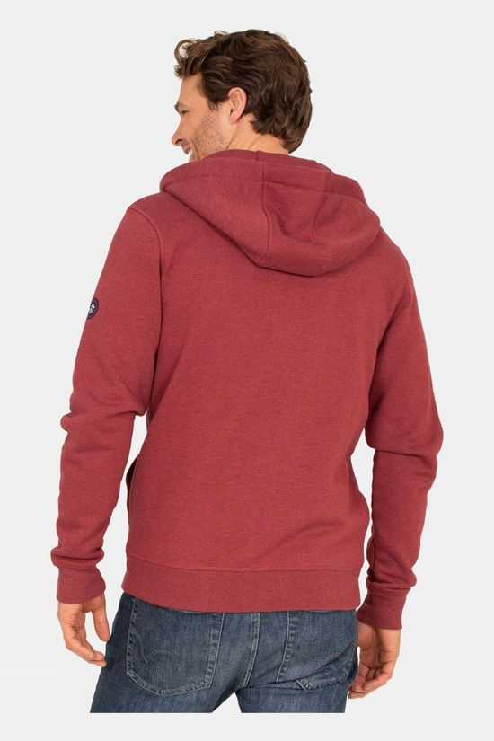 Brakeburn Mens Zip Through Hoodie Pink