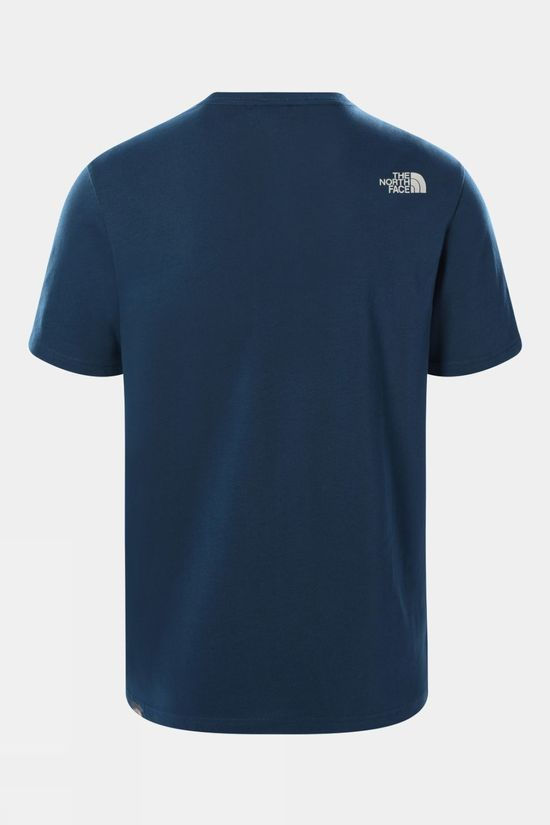 The North Face Mens Woodcut Dome T-Shirt Monterey Blue