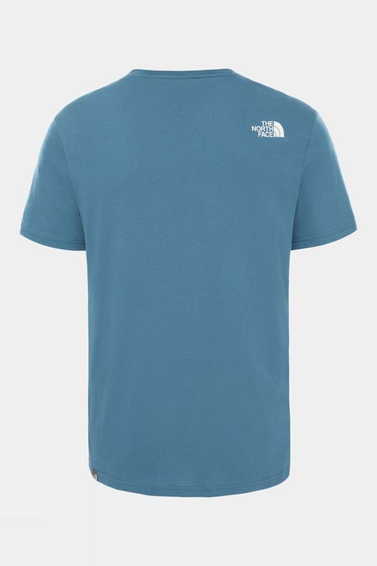 The North Face Mens Short Sleeve Easy Tee Mallard Blue