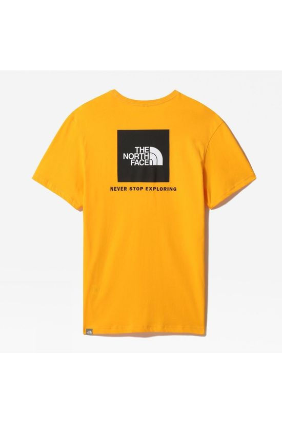 The North Face Mens Short Sleeve Red Box Tee Summit Gold/TNF Black