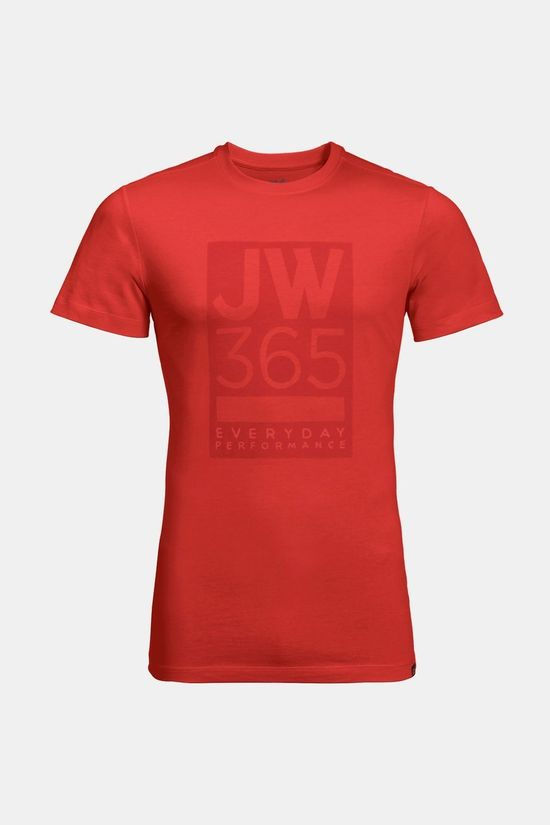 Jack Wolfskin Mens 365 Tee Lava Red