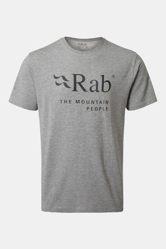 Rab Mens Stance Mountain T-shirt Grey Marl