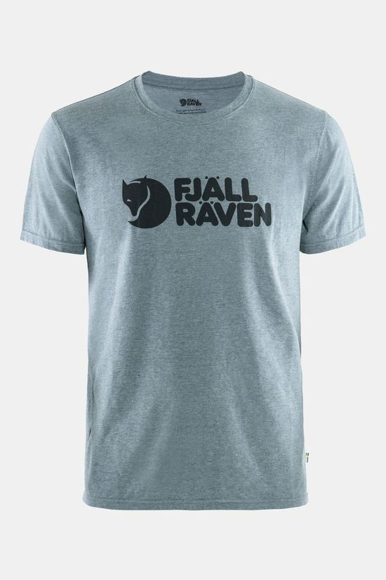 Fjallraven Men's Fjällräven Logo T-Shirt Uncle Blue-Melange