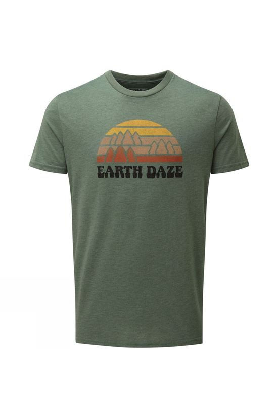 Tentree Mens Earth Daze T-shirt Forest Green Heather