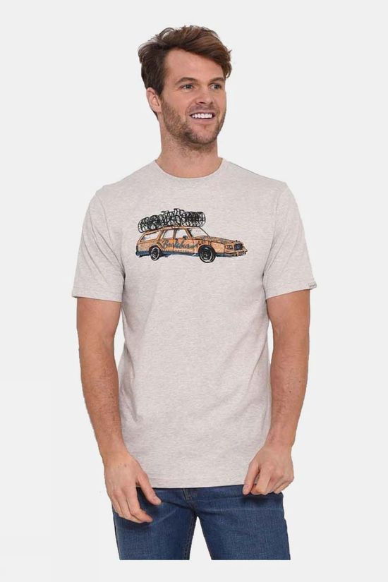 Brakeburn Support Car T-Shirt Ecru