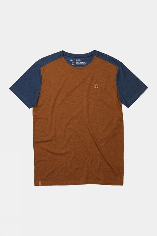 Tentree Douglas Short Sleeve Tee Rubber Brown/Dark Ocean