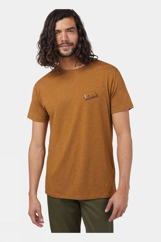 Tentree Forest Mix Short Sleeve Tee Rubber Brown Heather