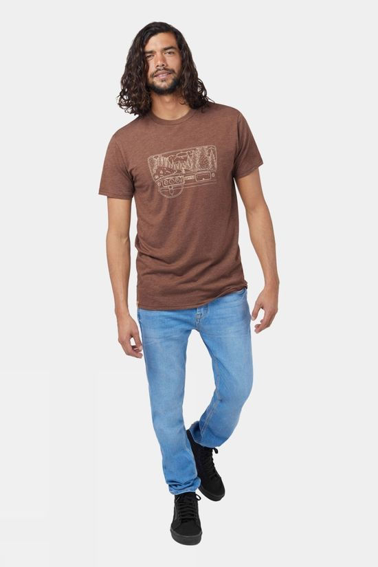 Tentree Nomad Short Sleeve Tee Pinecone Brown Heather
