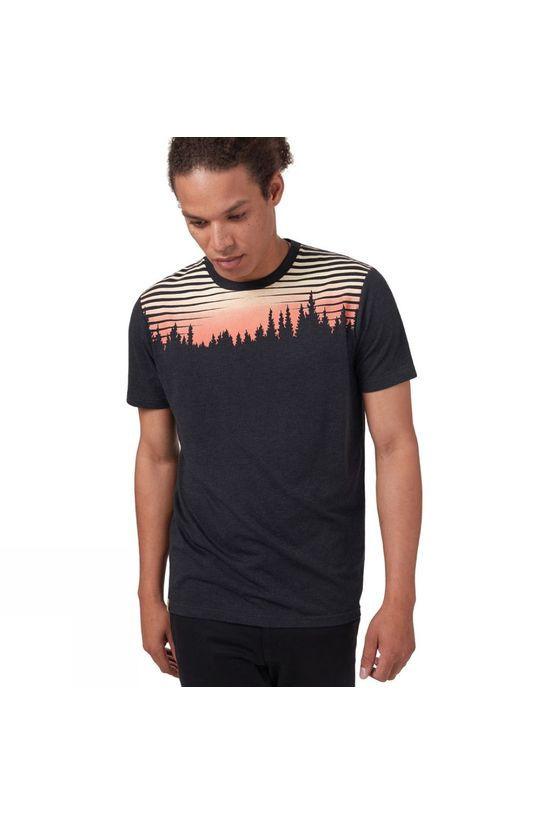 Tentree Sunset Juniper Short Sleeve Tee Meteorite Black Heather