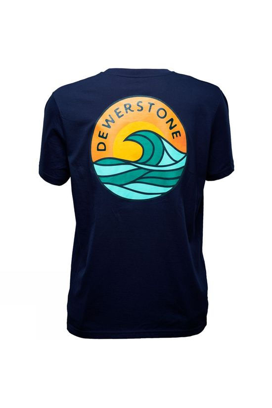 Dewerstone Mens Waves Short Sleeve Tee Matte Navy