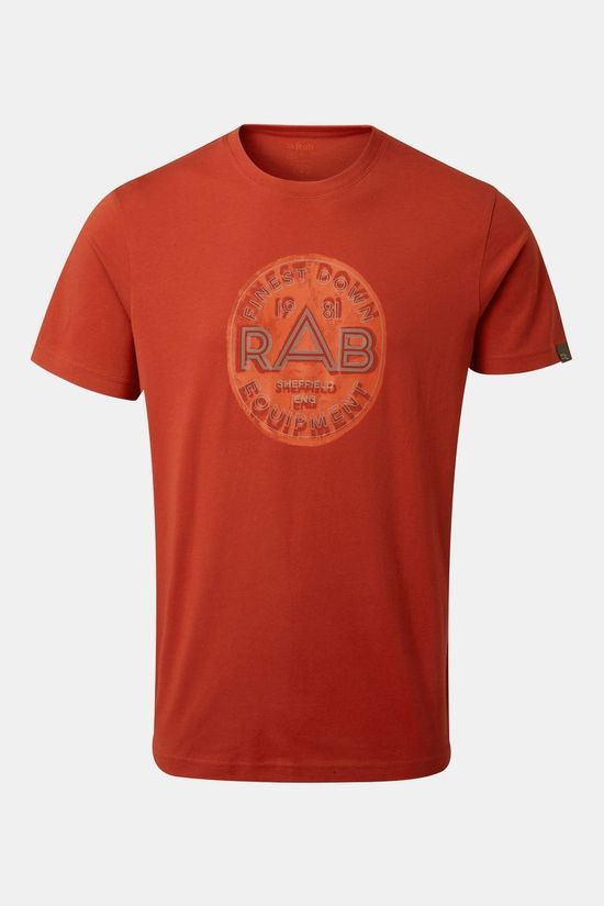 Rab Mens Stance Monument T-shirt Red Clay