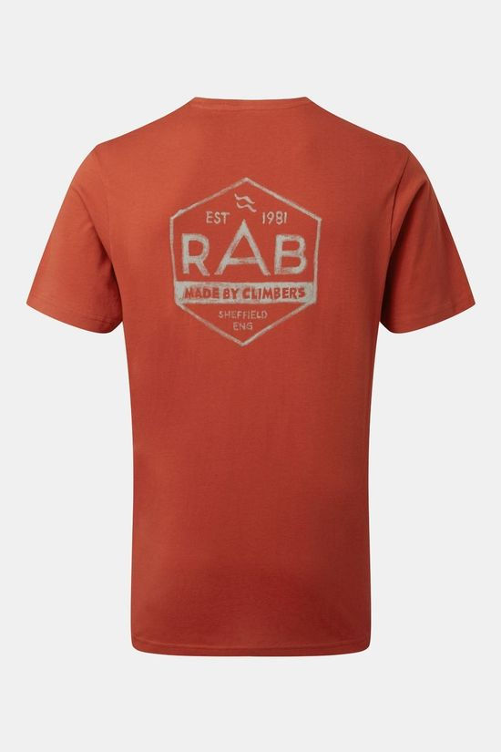Rab Mens Stance Hex T-shirt Red Clay