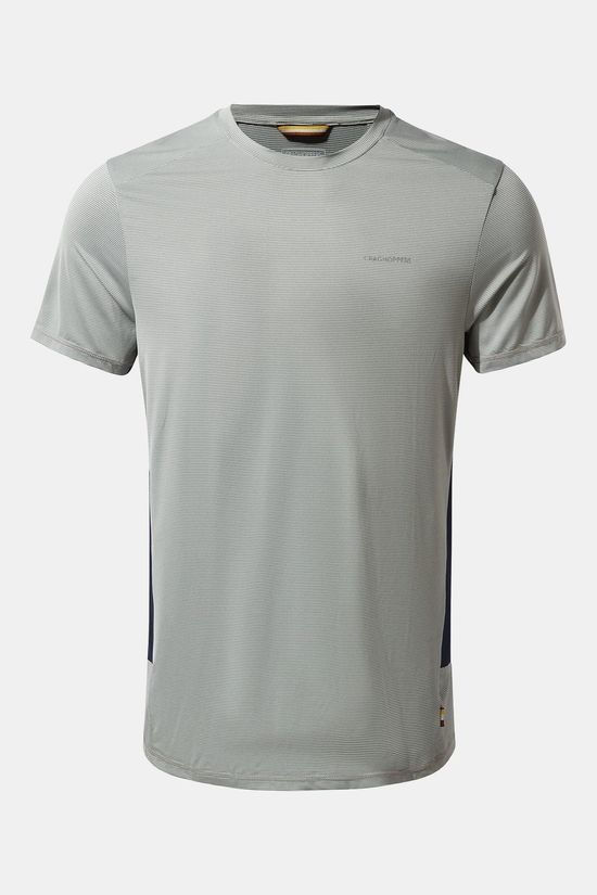 Craghoppers Mens Atmos Short Sleeved T-Shirt Cloud Grey