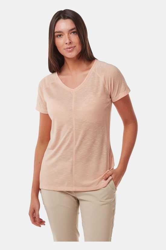 Craghoppers Womens NosiLife Galena Short Sleeve Top Corsage Pink