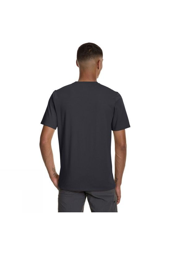 Berghaus Mens Drakestone Pocket T-Shirt Grey Pinstripe/Jet Black