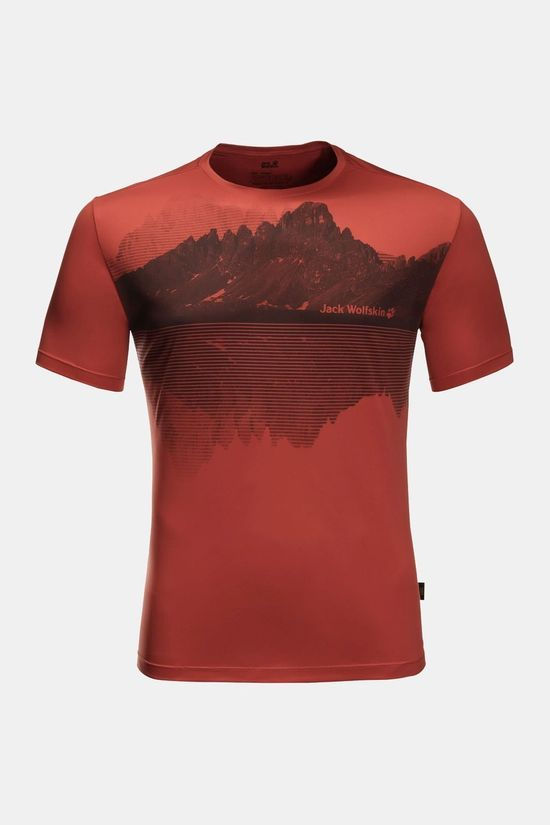 Jack Wolfskin Peak Graphic T-shirt Mexican Pepper