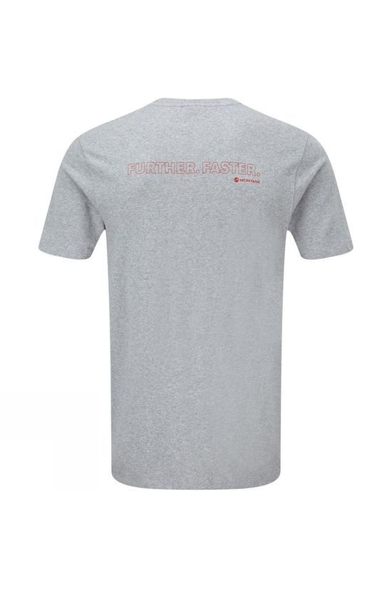 Montane Mens Further Faster T-Shirt Grey Marl