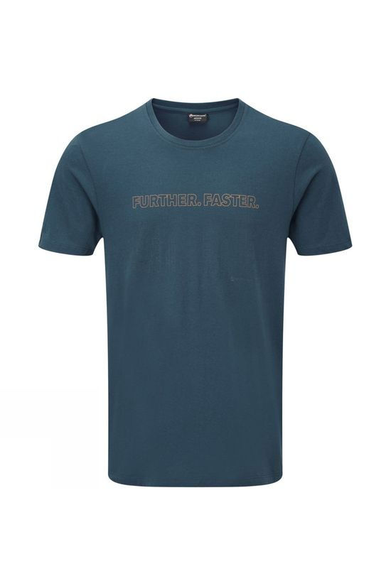 Montane Mens Further Faster T-Shirt Orion Blue