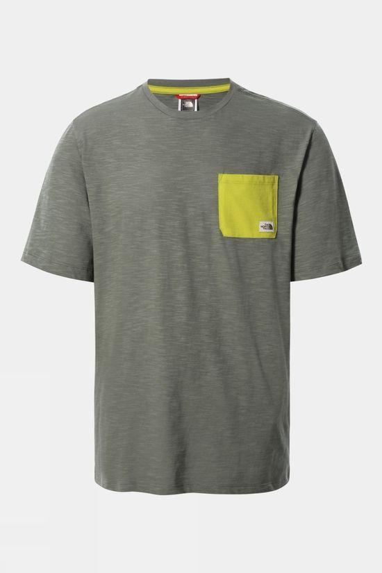 The North Face Mens Short Sleeve Campen Tee Agave Green